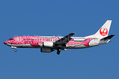 Japan Transocean Air-JAL Boeing 737-446 JA8992 (msn 27917) (Sakura Jimbei) HND (Akira Uekawa). Image: 921975.