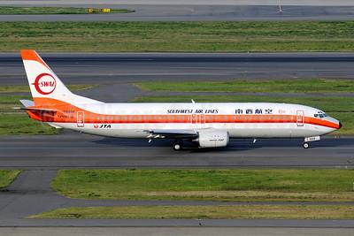 Southwest Air Lines-SWAL/JTA (Japan Transocean Air) Boeing 737-446 JA8999 (msn 29864) HND (Akira Uekawa). Image: 912016.
