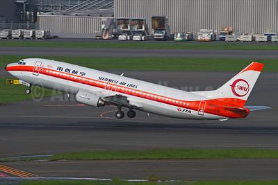 Southwest Air Lines-SWAL/JTA (Japan Transocean Air) Boeing 737-446 JA8999 (msn 29864) SIN (Kok Chwee K.C. Sim). Image: 931664.