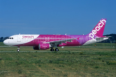 Peach Aviation (Japan) Airbus A320-214 JA810P (msn 5724) FUK (Christian Volpati Collection). Image: 934245.