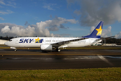 SKY-Skymark Airlines Boeing 737-86M JA737H (msn 34247) BFI (Royal S. King). Image: 901124.