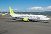 Solaseed Air Boeing 737-86N WL JA805X (msn 38035) HNL (Ivan K. Nishimura). Image: 923993.