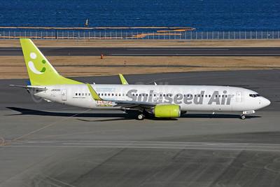 "Solaseed Air's ""Sora-Koi Project"" logo jet"