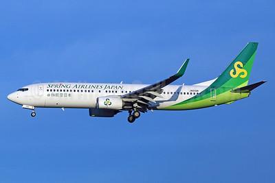 Spring Airlines Japan Boeing 737-81D WL JA01GR (msn 39429) NRT (Michael B. Ing). Image: 924839.