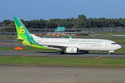 Spring Airlines Japan Boeing 737-81D WL JA01GR (msn 39429) NRT (Michael B. Ing). Image: 924838.