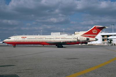 Alia-Royal Jordanian Boeing 727-2D3 JY-ADV (msn 21021) MIA (Bruce Drum). Image: 103320.