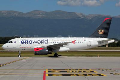 Royal Jordanian Airlines Airbus A319-132 JY-AYP (msn 3832) (Oneworld) GVA (Nick Dean). Image: 906674.