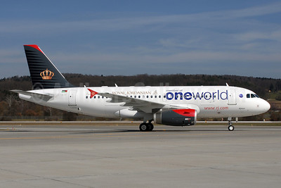Royal Jordanian Airlines Airbus A319-132 JY-AYP (msn 3832) (Oneworld) ZRH (Rolf Wallner). Image: 902536.