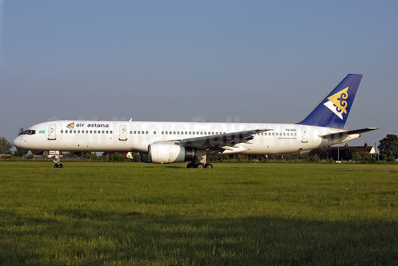 Air Astana Boeing 757-2G5 P4-GAS (msn 28112) SEN (Keith Burton). Image: 900002.