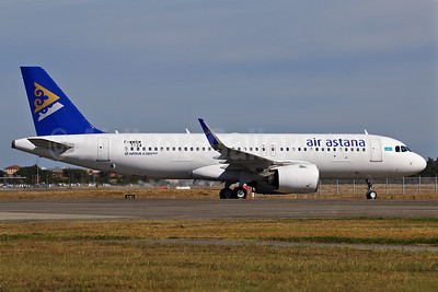 Air Astana's first Airbus A320neo is delivered on November 8, 2016