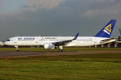 Air Astana Boeing 757-2G5 P4-FAS (msn 29489) (Expo 2017 Astana Kazakhstan) LHR (SPA). Image: 937623.