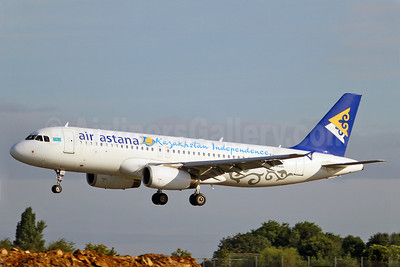 Air Astana Airbus A320-232 P4-UAS (msn 2987) (20 Years Kazakhstan Independence) SEN (Keith Burton). Image: 907118.