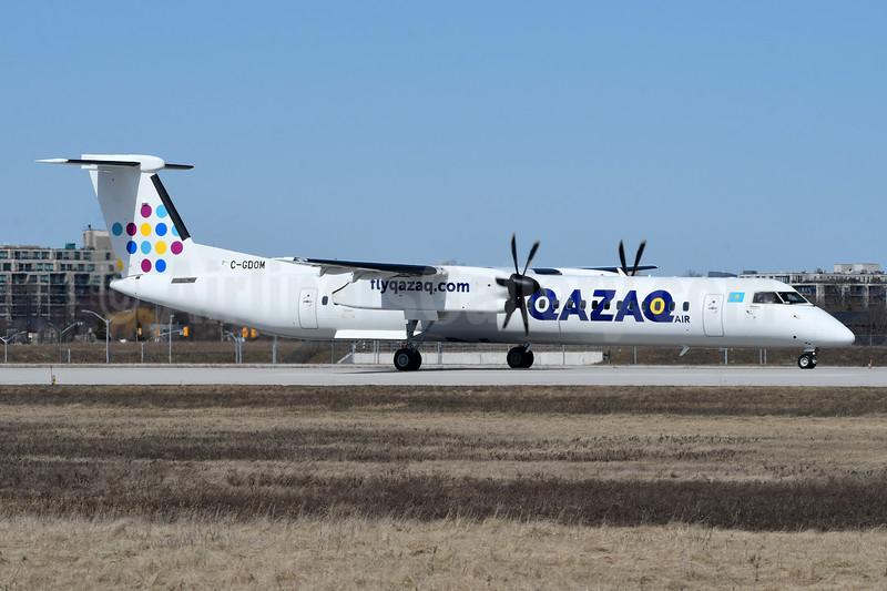Qazaq Air Bombardier DHC-8-402 (Q400) C-GDOM (msn 4595) YZD (TMK Photography). Image: 946283.