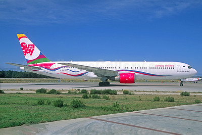 Sunday Airlines (SCAT Air Company) Boeing 767-332 ER UP-B6703 (msn 30597) (Jacques Guillem Collection). Image: 927274.