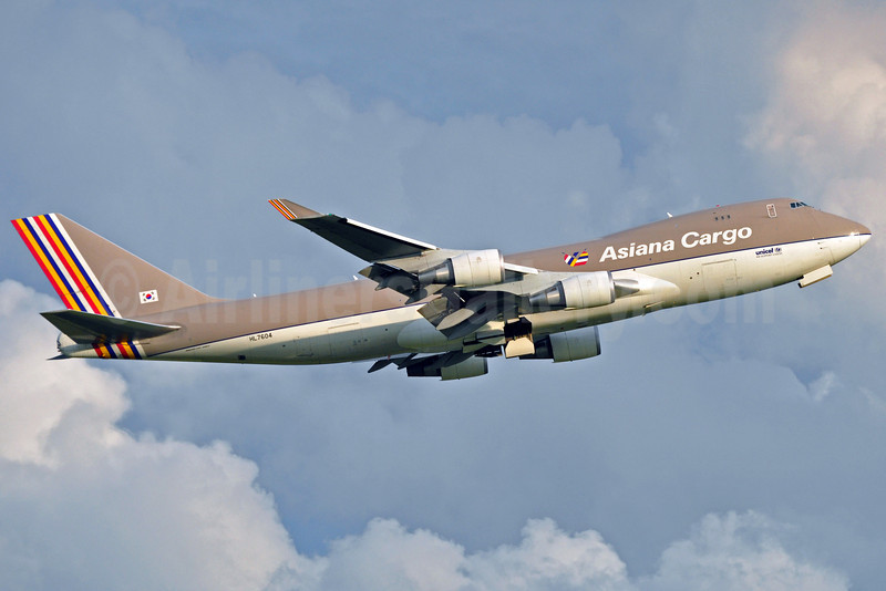 Asiana Cargo (Asiana Airlines) Boeing 747-48EF HL7604 (msn 29907) BRU (Karl Cornil). Image: 905248.