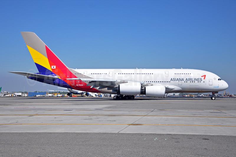 Asiana Airlines Airbus A380-841 HL7634 (msn 179) JFK (Stephen Tornblom). Image: 929563.