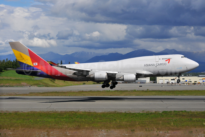 Asiana Cargo (Asiana Airlines) Boeing 747-48EF HL7414 (msn 25452) ANC (Ken Petersen). Image: 929305.
