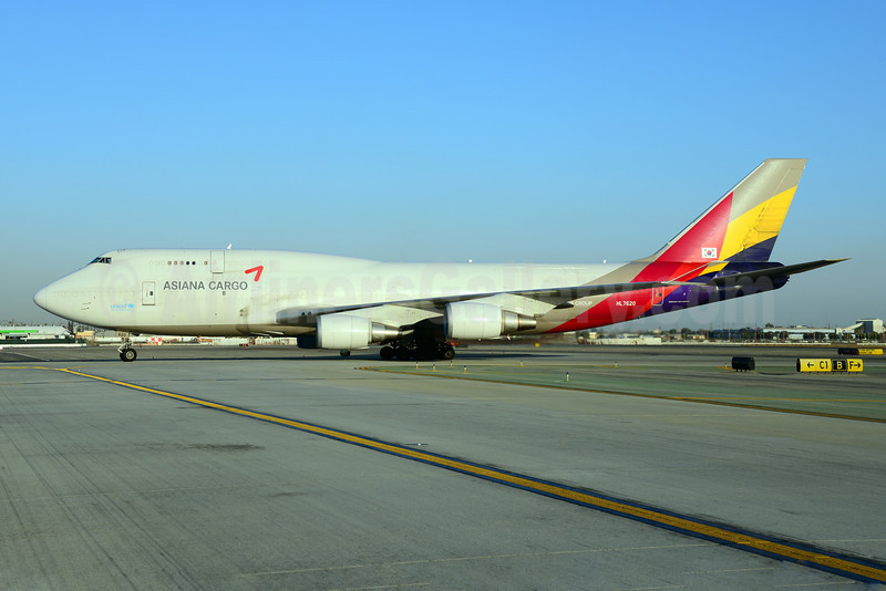 Asiana Cargo (Asiana Airlines) Boeing 747-419 (F) HL7620 (msn 29375) LAX (Ton Jochems). Image: 921431.
