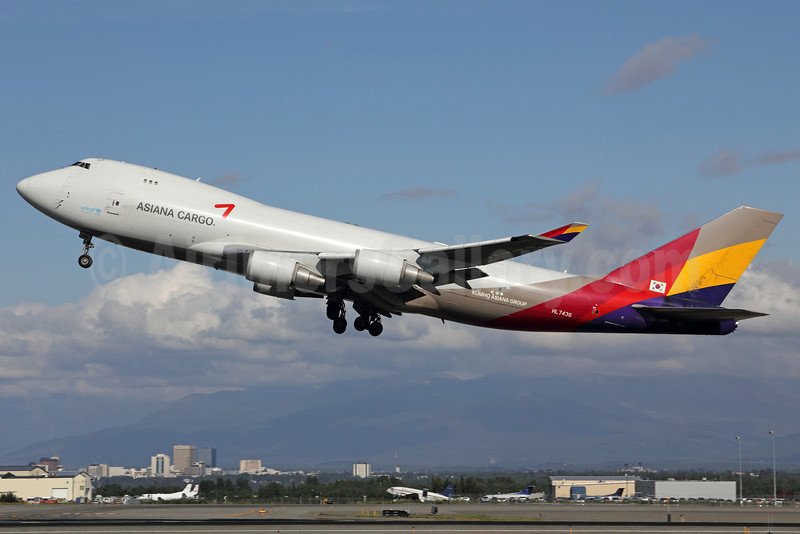 Asiana Cargo (Asiana Airlines) Boeing 747-48EF HL7436 (msn 29170) ANC (Michael B. Ing). Image: 905247.