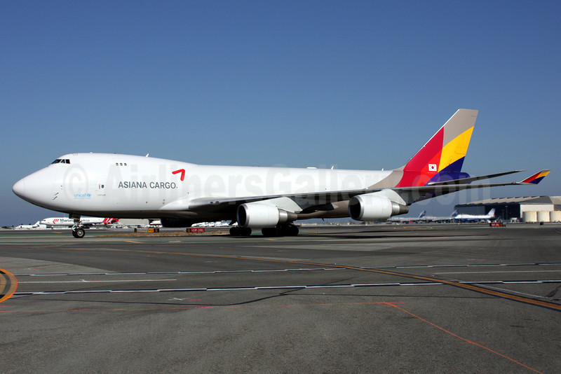 Asiana Cargo (Asiana Airlines) Boeing 747-48EF HL7436 (msn 29170) SFO (Mark Durbin). Image: 901359.