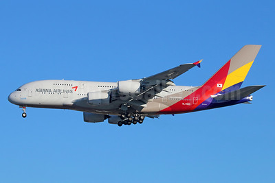 Asiana Airlines Airbus A380-841 HL7635 (msn 183) LAX (Michael B. Ing). Image: 930444.