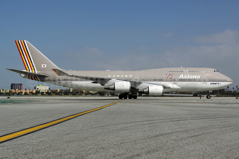Asiana Airlines Boeing 747-48E HL7418 (msn 25780) LAX. Image: 912836.