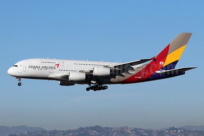 Asiana Airlines Airbus A380-841 HL7640 (msn 230) LAX (Michael B. Ing). Image: 946282.