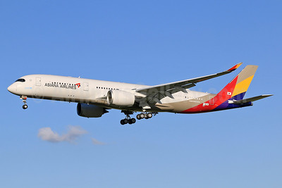 The first flight of the first Airbus A350-900 for Asiana