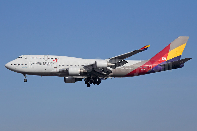 Asiana Airlines Boeing 747-48E HL7418 (msn 25780) LAX (Michael B. Ing). Image: 933806.
