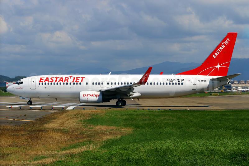 Eastar Jet (eastarjet.com) Boeing 737-86N WL HL8036 (msn 28655) TSA (Manuel Negrerie). Image: 924835.