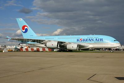 Korean Air Airbus A380-861 HL7628 (msn 156) LHR. Image: 932510.