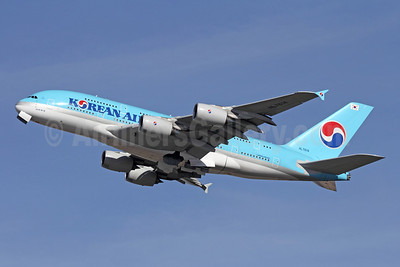 Korean Air Airbus A380-861 HL7614 (msn 068) LAX (Michael B. Ing). Image: 908842.
