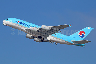 Korean Air Airbus A380-861 HL7621 (msn 126) LAX (Michael B. Ing). Image: 920510.