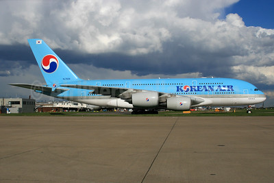 Korean Air Airbus A380-861 HL7628 (msn 156) LHR. Image: 932760.