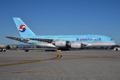 Korean Air Airbus A380-861 HL7615 (msn 075) LAX (Roy Lock). Image: 912450.
