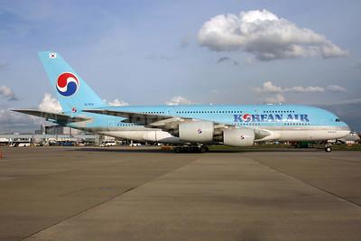 Korean Air Airbus A380-861 HL7614 (msn 068) LHR. Image: 932328.