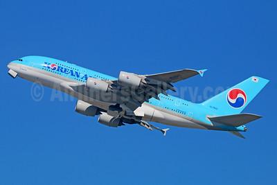 Korean Air Airbus A380-861 HL7622 (msn 128) LAX (Michael B. Ing). Image: 930041.
