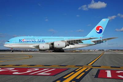 Korean Air Airbus A380-861 HL7612 (msn 039) JFK (Fred Freketic). Image: 935497.
