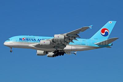 Korean Air Airbus A380-861 HL7627 (msn 130) LAX (Michael B. Ing). Image: 930041.
