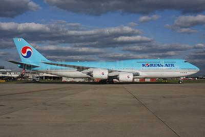 Korean Air Boeing 747-8B5 HL7638 (msn 60408) LHR. Image: 937585.