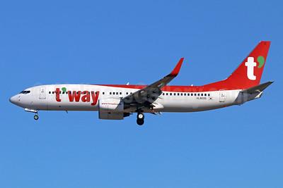 t'way Air Boeing 737-8Q8 WL HL8095 (msn 30725) NRT (Michael B. Ing). Image: 940412.