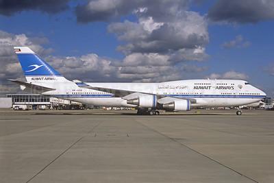 Kuwait Airways Boeing 747-469M 9K-ADE (msn 27338) LHR (Jacques Guillem Collection). Image: 939829.