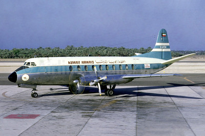 Kuwait Airways - Gulf Aviation Vickers Viscount 702 G-APOW (msn 72) BAH (Jacques Guillem Collection). Image: 949950.