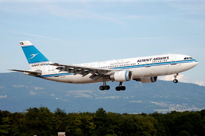 Kuwait Airways Airbus A300B4-605R 9K-AMB (msn 694) GVA (Paul Denton). Image: 903558.
