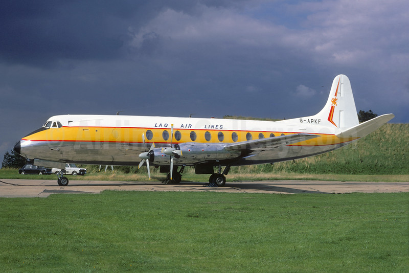 Lao Air Lines (1st) Vickers Viscount 806 G-APKF (XW-TDN) (msn 396) FFD (Christian Volpati Collection). Image: 928421.