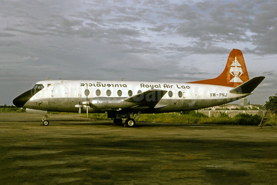 Royal Air Lao Vickers Viscount 768D XW-PNJ (msn 295) VTE (Pierre-Alain Petit - Bruce Drum Collection). Image: 947359.
