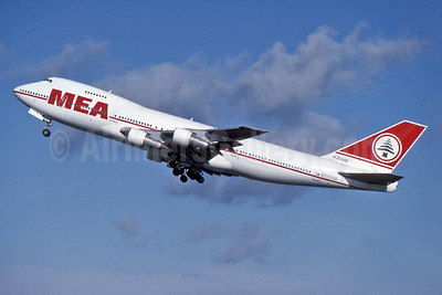 MEA (Middle East Airlines) Boeing 747-2B4B N202AE (msn 21097) LHR (SPA). Image: 929832.
