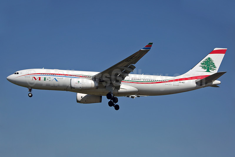 MEA-Middle East Airlines Airbus A330-243 OD-MEE (msn 1725) LHR (Keith Burton). Image: 939827.