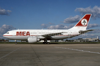 MEA (Middle East Airlines) (KLM Royal Dutch Airline) Airbus A310-203 PH-AGF (msn 297) LHR (SPA). Image: 937318.