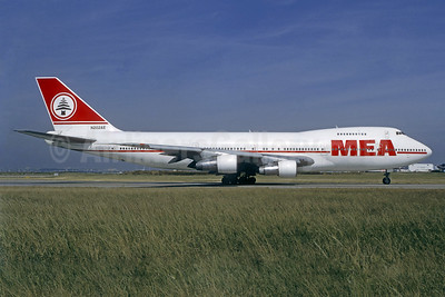 MEA-Middle East Airlines Boeing 747-2B4B N202AE (OD-AGH)  (msn 21097) ORY (Jacques Guillem). Image: 939825.